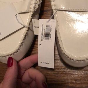 Old Navy Shoes - Old Navy White Mules